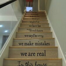 Stair Decals Sticker We Are Family In This House Vinyl Art Home Stairway Decor