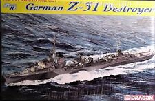 Dragon 1/700 German Z-31 Destroyer waterline / full hull kit ,etched parts 7126