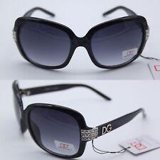 NUOVO Donna Occhiali DG Designer occhiali da sole vintage strass nero