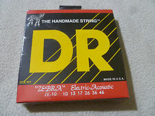 New Sealed The Handmade Guitar String Dr Zebra Ze-10 Electric-Acoustic 10 13 17