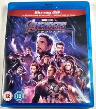 AVENGERS: ENDGAME Used 3D + 2D BLU-RAY + Bonus Disc 2019 Marvel MCU Movie