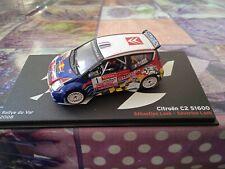 Miniature car altaya 1/43 citroen c2 s1600 rallye du var 2008