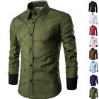 Stylish Mens Long Sleeve Slim Fit Dress Shirt New Casual Formal Luxury T-Shirts