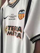 VALENCIA SPAIN 2000/2001 HOME FOOTBALL SHIRT JERSEY #6 MENDIETA AC Milan