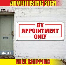 By Appointment Only Banner Advertising Vinyl Sign Flag reception date open here