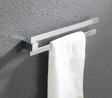 Bathroom Towel Rack Holder Swivel Rail Hanger Shelf Brass Chrome Wall Mounted