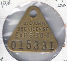 1960-61 Los Angeles County (California) Dog License Tag #015331