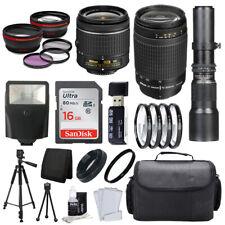9 Lens Bundle! Nikon 18-55 Vr & 70-300 + 500mm + 32Gb + Best Value Accessories