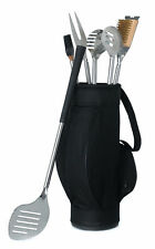 Barbecue Tool with Grips Set 5 Piece in Black Golf Bag