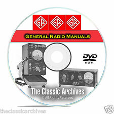 General Radio Service, Maintenance, & Operating Manuals, 341 in Total CD DVD B64