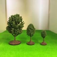 Mid Green Deciduous Bushy Trees - Plastic crafted Model Scenery Railway Wargames