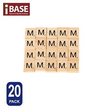 20x Wooden Alphabet Scrabble Tiles Letter M Scrapbooking Complete Handcraft