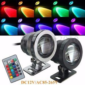 10W 12V RGB LED Projecteur Spot Lampe Luminaire Extérieur Etanche Multicolore