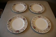 "Lot Of 4 Farberware Monaco 3111 China Floral 10 3/4"" Dinner Plates"