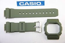 Genuine Casio G-Shock DW-5600M-3 New Green Watch Band & Bezel Combo DW-5600E