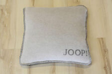 JOOP! Kissen Uni Doubleface Rauch Graphit 50x50cm inkl. Federfüllung NEU