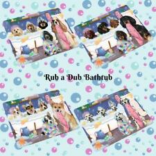 Rub a Dub Dog Cat in a Tub Small Mini Magnet, Pet Photo Lovers Gift