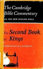 The Second Book of Kings (Cambridge Bible Commentaries on the Old Test-ExLibrary