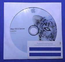 Apple MacOSX 10.6.3 Snow Leopard SERVER Retail Full Version Install DVD Original