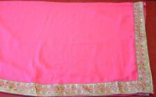 Beautiful Indian Bollywood Pink Chiffon Saree with matching blouse