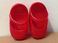"""Gabbigale Red Shoes Kenner Doll vintage 1972 vinyl replacement pair for 18"""" toy"""