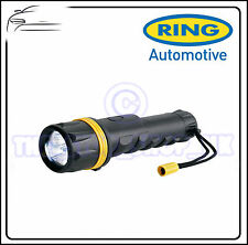 Ring Hand Held 3 LED Large Heavy Duty Rubber Torch RT5149