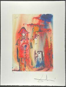 SALVADOR DALI * Harlequin * 50 x 60 cm * signed lithograph * limited