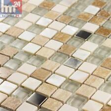 Pâte de Verre Mendoza Pierre Naturelle Métal Élément Argent Blanc Transparent