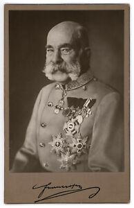 K.u.k Portrait Foto Kaiser Franz Joseph I.,Josef,Orden,photo emperor,Habsburg,FJ