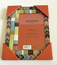 Missoni for Target Chevron Frame  5 x 7 Photo Picture Brown Zig Zag Glass