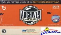 2016 Topps Archives Snapshots Baseball EXCLUSIVE Factory Sealed Box-AUTOGRAPH