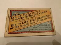 Vintage 14 Stations Of The Cross St Anne de Beaupre Quebec Canada Postcard Book