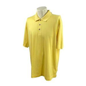 NWT Cutter & Buck Men's DryTec Luxe Short Sleeve Yellow Golf Polo Shirt XL