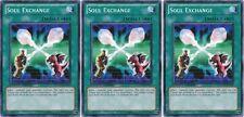 Soul Exchange  SDGU/ GLD4 X 3 1st Mint YUGIOH YU-GI-OH!