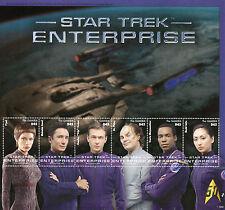 Gambia 2015 MNH Star Trek Enterprise 6v M/S T'Pol Phlox Tucker Hoshi Sato Stamps