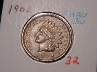 1902 INDIAN HEAD CENT CHOICE AU BU NICE BETTER DATE COIN COMBINED SHIPPING