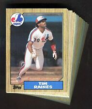 1987 Topps Expos Team Set—Complete (29) Card Lot