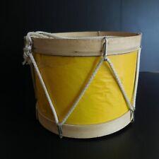 Tambour tambourin instrument musique fait main bois papier corde vintage N5409