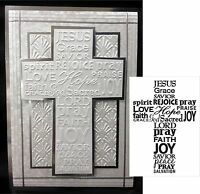 Cross with Words Folder Darice Embossing Folders 1218-49 Easter Sympathy