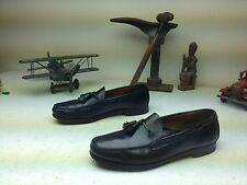 BASS WEEJUNS MADE IN USA BLACK LEATHER SLIP ON TASSLE LOAFERS SIZE 11.5 C