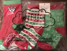 NWT 3 pack Baby Infant Size M/L Toddler Socks Tiny Tillia by Avon Cute Christmas