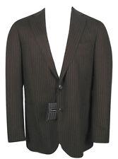 NEW Ermenegildo Zegna Sportcoat Blazer, Jacket! US 40 R e 50 R  Brown Pinstripe