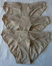 Lot de 3 culottes femme slips beige lingerie sous vêtement taille S neuf