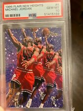 1995-96 Fleer Flair New Heights #4 Michael Jordan Bulls HOF PSA 10 GEM MINT