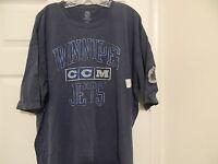 CCM Vintage Feel Winnipeg Jets Hockey Shirt New MEDIUM