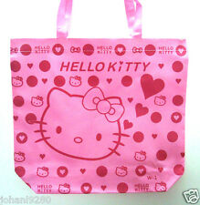 Draagtas  Hello Kitty roze, met ritssluiting   43,5 x 33,5 x 38 cm (B.b.H)