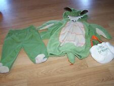 Infant Size 3-6 Months Green Dragon Complete Halloween Costume Baby Grand New
