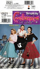 """Simplicity Costumes Sewing Pattern # 0521 """"Misses' Poodle Skirts"""" Halloween 6-12"""