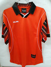 NWT KELME FUTBOL (SOCCER) Polo Soccer Shirt Orange w/black/white Polyester Sz S
