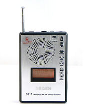 DEGEN DE17 Stereo MW SW LCD FM Radio DSP World Band Receiver Alarm Quarz Clock